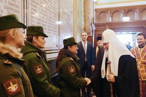 Святейший Патриарх Кирилл благословил курсантов  Военной академии связи