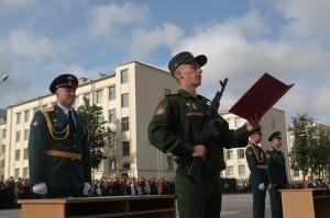 Торжественная церемония принятия присяги прошла в Военной академии связи