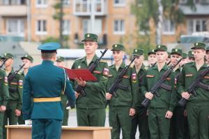 Церемония принятия присяги курсантов прошла в Военной академии связи