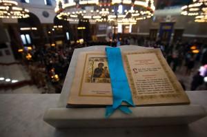 Курсанты Военной академии связи молились на литургии в праздник Торжества православия