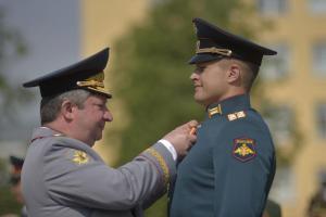 Выпуск офицеров в Военной академии связи